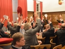 Abstimmung bei einem Altherrenconvent